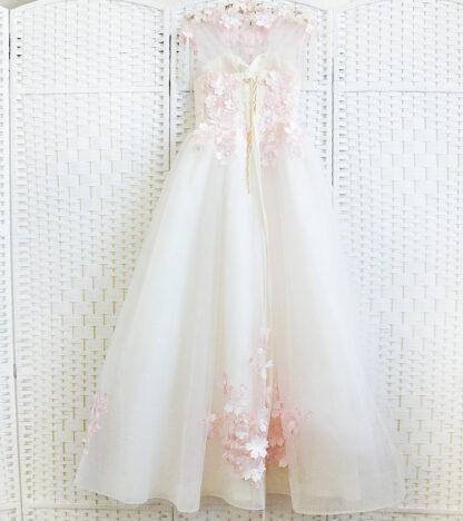 Выпускное платье молочного цвета