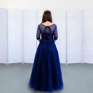 Платье на выпускной темного синего цвета .