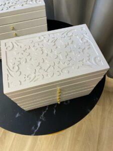 Деревянная шкатулка для украшений, 5 секций