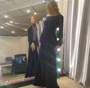 Облегающее вечернее платье в пол