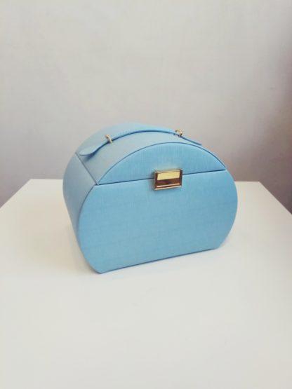 Голубая шкатулка для украшений