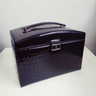 Средняя черная шкатулка для украшений