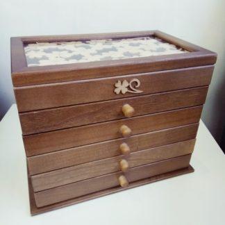 Деревянная шкатулка для украшений, 1 секция