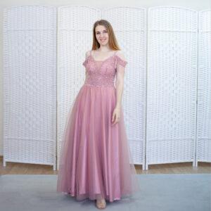 Розовое платье на выпускной