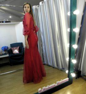 Изящное платье русалка шикарного винного цвета