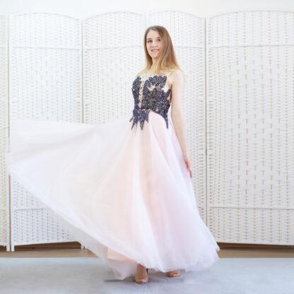 Розовое  платье в пол