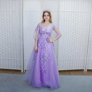Шикарное сиреневое платье