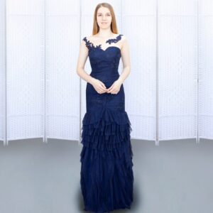Тёмно-синее платье русалка