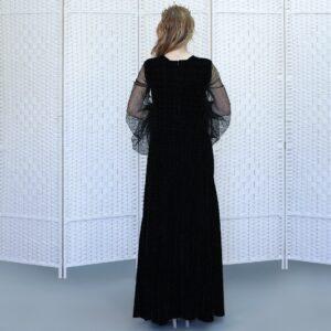 Черное вечернее платье в пол