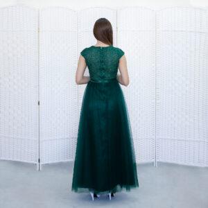 Изумрудное платье на выпускной вечер
