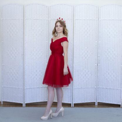 Красное мини платье на выпускной вечер