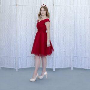 """Красное платье """"мини"""" на выпускной"""