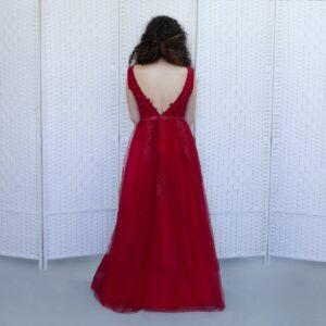 Красное шикарное платье на выпускной вечер
