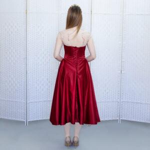 """Красное вечернее платье """"миди"""""""