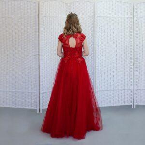 Пышное красное платье на выпускной