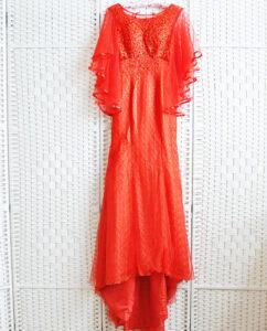Алое платье русалка