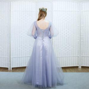 Сиреневое платье на выпускной вечер