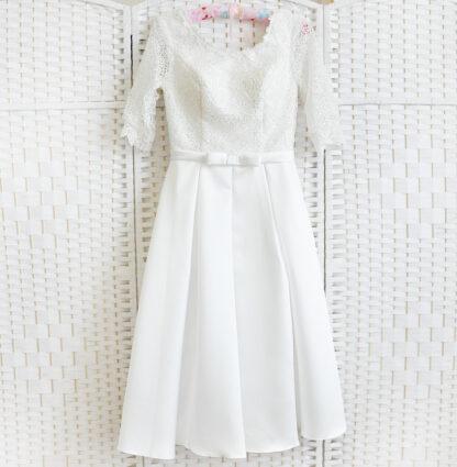 Белое платье миди