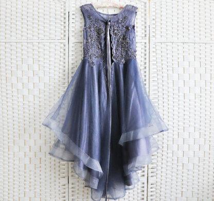 Фиолетовое мини платье