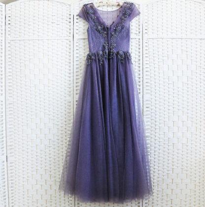 Фиолетовое платье