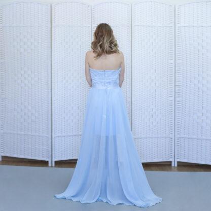 Голубое платье-трансформер