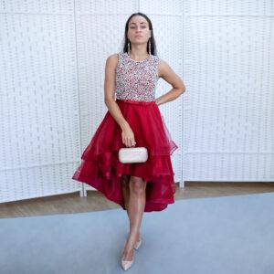 Красное мини платье