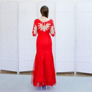 Красное платье-русалка