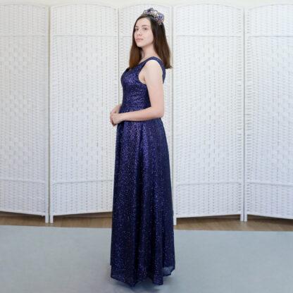 Шикарное синее платье на выпускной