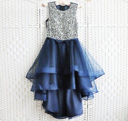 Синее мини платье на выпускной вечер