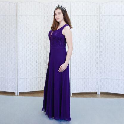 Вечернее фиолетовое платье