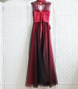 Винное платье на выпускной вечер