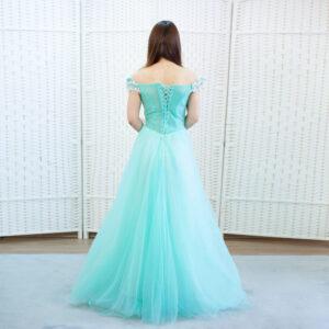 Бирюзовое платье на выпускной вечер