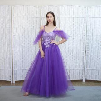Фиолетовое платье на выпускной вечер
