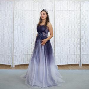 Фиолетовое платье с эффектом омбрэ