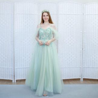 Салатовое платье на выпускной вечер