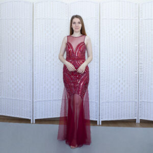 Вечернее красное платье